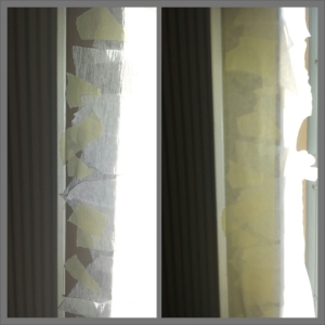 "I ""sealed"" the ended with masking tape to make sure all my strips held in place.  Here's a before & after."