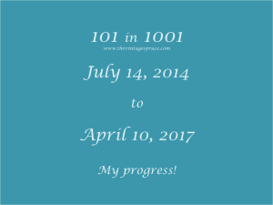 101 in 1001 challenge progress